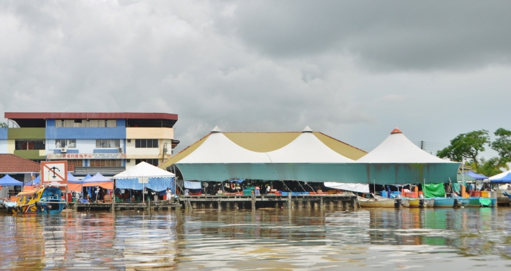 Mukah Fish Market from
